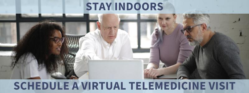 schedule a virtual telemedicine visit